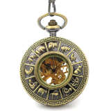 Fashion Mechanical Hand Wind Pocket Watch Women Men Classical Vintage Antique Pendant Ancient Bronze Tone Case Round Watch Intl Best Buy