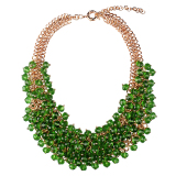 Discount Magideal Multi Layered Braided Chain Crystal Beads Choker Necklace Green Magideal China