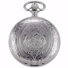 Cheaper Fashion Retro Cool Silver Eden Pattern Men Lady Pendant Chain Fob Clip Chain Quartz Pocket Watch Jewelry Clock Wpk093 Intl