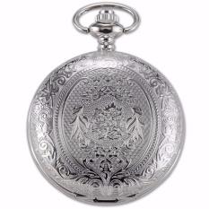 Discount Fashion Retro Cool Silver Eden Pattern Men Lady Pendant Chain Fob Clip Chain Quartz Pocket Watch Jewelry Clock Wpk093 Intl Singapore