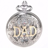 Buy Fashion Silver Hollow Hunter White Dial Pendant Rome Number Men Lady Pocket Quartz Watch Necklace Father S Day Dad Gift Wpk050 Intl