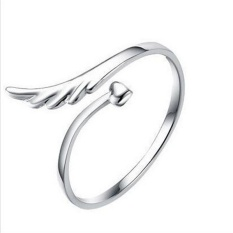 Fashion Silver Plated Joint Joint Angel Wings Opening Ring New Pattern - Intl By Joomia.
