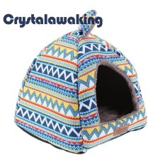 Fashion Striped Removable Cover Mat Dog House Bed Winter Warm Pet Bed - Intl By Crystalawaking.