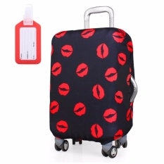 Who Sells Fashion Travel Suitcase Protective Cover Luggage Protector Cases Elastic Dust Proof 24 Inch Black And Red Kiss Intl