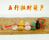 Five Lucky Gourd Reminder Positive Cross Partial Wealth Car Hanging Bag Ornaments Natural Crystal Jade Pendant Oem Cheap On China