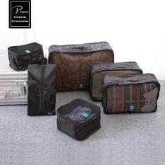 Shop For Flora 6 Piece Travel Luggage Organizer Cloth Set Packing Cubes Storage Bags Black Intl