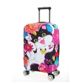 Flora Stretchable Elasticy 22 24 Inch Waterproof Suitcase Luggage Cover To Travel Tabby Cat Intl Promo Code