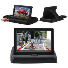 Foldable Auto Car 12V Lcd Tft Rear Car View 4 3 Inch Hd Monitor Screen Playing Intl Free Shipping