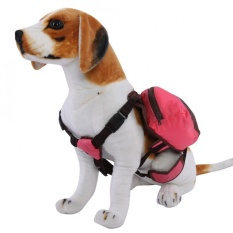 Foldable Pet Dog Backpack Snack Carrying Bag For Outdoor Travel Training(pink M) - Intl By Highfly.