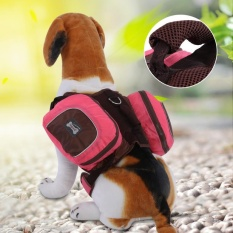 Foldable Pet Dog Backpack Snack Carrying Bag For Outdoor Travel Training(pink S) - Intl By Highfly.
