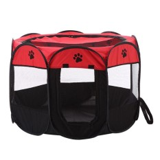 Compare Price Foldable Portable Pet Playpen Dog Cat Exercise Pen Kennel Oxford Cloth 8 Sided Cage Color Red Specification S Intl Oem On China
