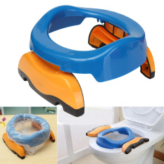 Foldable Portable Travel Potty Plastic Chair Toilet Seat for Baby Kids + 10 Bags - intl