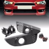 For 08 14 Mitsubishi Lancer Clear Bumper Grille Fog Light Driving Lamp Switch Intl Price