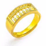 Fortune Golden Abacus Men S Ring 24K Gold Plated Intl China