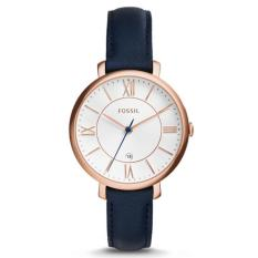 Review Fossil Es3843 Jacqueline Blue Leather Analog Ladies Casual Watch Fossil On Singapore