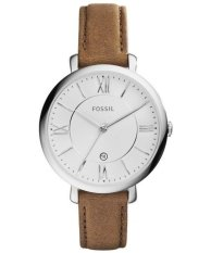 Compare Price Fossil Jacqueline Silver Dial Women S Tan Leather Strap Watch Es3708 Fossil On Singapore