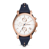 Best Fossil Ladies Original Boyfriend Blue Chronograph Watch Es3838