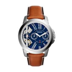 Sale Fossil Me1161 Grant Twist Three Hand Blue Dial Brown Leather Analog Watch On Singapore