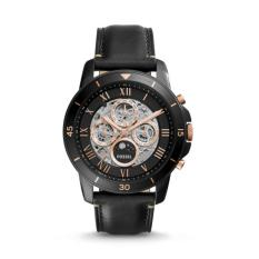 Fossil Me3138 Grant Sport Automatic Black Leather Men S Watch Online