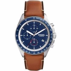 Buy Fossil Men S Ch3039 Sport 54 Chronograph Blue Dial Brown Leather Cheap Singapore
