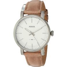 Sales Price Fossil Original Boyfriend Silver Dial Ladies Beige Leather Watch Es4179 New