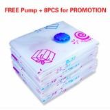 Free Pump Combo 8Pcs Compression Bags 70X50Cm Vacuum Storage Bags Lollipop Intl Deal