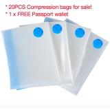 Buy Free Pump Free Passport Wallet 20Pcs 70X50Cm Vacuum Compression Storage Bags Transparent Intl On China