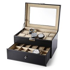 Sale Free Spot Watch Luxury 20 Grid Leather Watch Box Jewelry Display Collection Storage Case Drawer Style Pu Watch Organizer Box Holder Intl Online On China