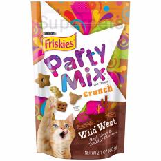 Review Friskies Party Mix Crunch Wild West Beef Liver Cheddar Flavours 60G 3Pcs On Singapore