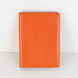 Latest Fromb Genuine Cow Leather Rfid Blocking No Skimming Passport Holder Cover Orange