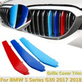 Buy Front Center Grill Grid Grille Cover Trim 3Pcs For Bmw 5 Series G30 2017 2018 Intl Cheap China