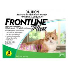 Frontline Plus For Cat 3 Doses By Petso2.