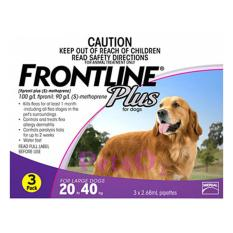 Frontline Plus For Dogs 20-40kg 3 Doses By Petso2.