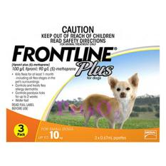 Compare Frontline Plus For Dogs Below 10Kg 6 Doses