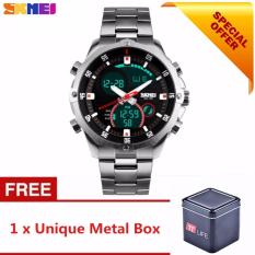 Compare Full Steel Military Watch Waterproof Digital Led Calendar Alarm Digital Watch Skmei 1146