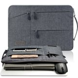 Promo Gearmax Tm Travellers Multi Functional Nylon Water Resistant With 2 Side Pockets Laptop Handbag For 11 6 Inch Macbook Air Pro Surface Ipad Sleeve Case Cover Bag 11 6 Inch Gray