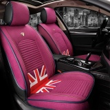 Price Genuine Fast Delivery Europe And The United States Fan Qi Word Flag Linen Four Seasons Pad Car Cushion Seat Cover All Inclusive Cushionpink Intl Online Singapore