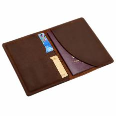 Discount Genuine Leather Passport Holder Wallet Boshiho Passport Cover Case And Credit Card Organizer Slim Travel Wallet Brown Intl Boshiho