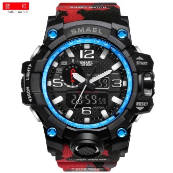 Buy 【Genuine Products】Smael Outdoor Sports Waterproof Double Display Men S Watches Multi Function Led Electronic Watches Red Intl Smael Cheap