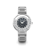 Glamour Metal Watch Black Crystals From Swarovski® And 1 Real Diamond Compare Prices