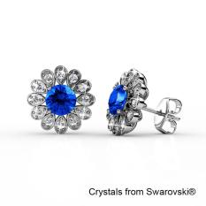 Sale Gloria Earrings Blue Crystals From Swarovski® Her Jewellery Original