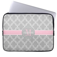Shop For Gray Pink White Moroccan Pattern Laptop Sleeves Notebook Cover Or 13 Inch Intl