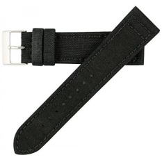 80f30c010ce Hadley Roma MS850 22mm Black Genuine Cordura Fabric Stitched Watch Band -  intl
