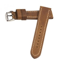 affaf0319d5 Hadley Roma MS854 22mm Rust Oil Tan Distressed Leather Stitched Mens Watch  Band - intl