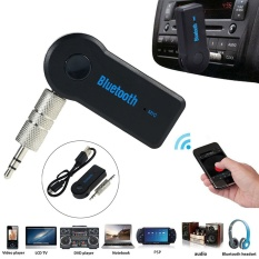 Handfree Wireless Bluetooth Receiver Universal 3.5mm Car Aux Audio Stereo Music Receiver Adapter With Mic For Pc - Intl By Lumiparty.