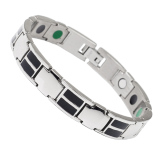 Health Energy Magnetic Black Plated Stainless Steel Bracelet For Men Intl Online