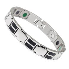 Discount Health Energy Magnetic Black Plated Stainless Steel Bracelet For Men Intl Afghanistan