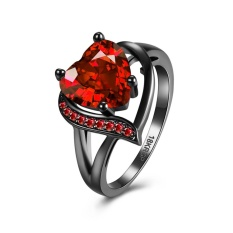 Sale Heart Shaped Red Large Zircon Ring Lkn18Krgpr860 A 7 Intl On China