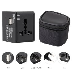 Sale Hht148 Multifunctional Travel Adapter International Plug Dual Usb Charging Port Universal Ac Socket Drop Protection Bag Intl China