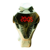 Discount Hks New Led Watch Snake Head Shaped Wristwatch White Case Red Light Export China